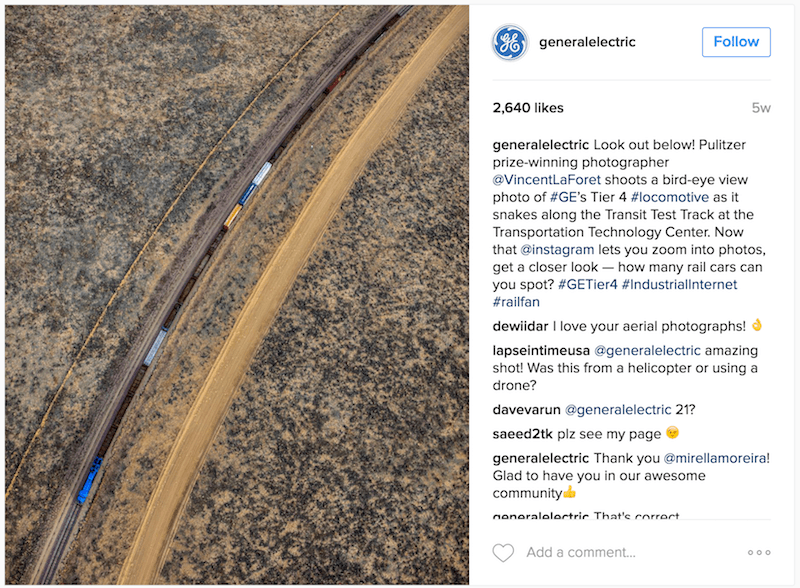 3IDco Zoom en Instagram General Electric